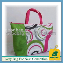 logo printing cotton handle paper shopping bags with drawstring
