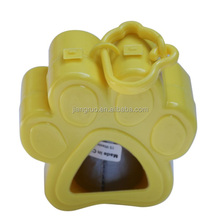 Hot sale big claws shaped yellow dog waste bag dispenser