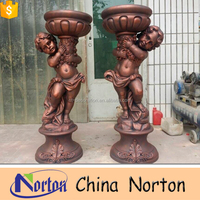 bronze children playing sculpture NTRS178S
