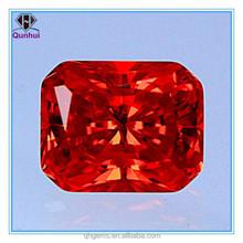 Radiant Cut 10*12mm Orange Cubic Zirconai Stone