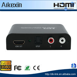 HDMI to HDMI + Audio Toslink/Optic SPDIF + 3.5mm Stereo Audio Extractor Converter
