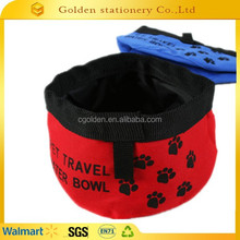 2015 waterproof 600D oxford dog bowl water bowl folding dog bowl
