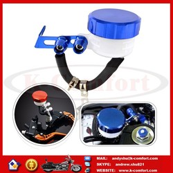 K009 Dirt Bike Blue Color Tank FLUID RESERVOIR Oil Cup with CNC Cap For Motorcycle Motobike BRAKE CLUTCH CYLINDER Lever