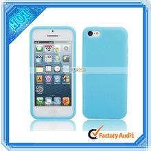 No- transparente de silicona caso para el iphone 5c azul cielo(87012825)