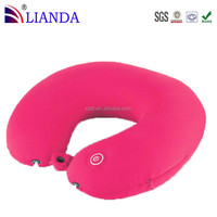 New Neck Massage Microbead Pillow Battery Operated Vibrating Travel Pillow