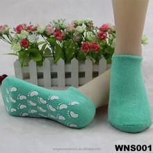 lady slipper heel gel cotton non-skid socks