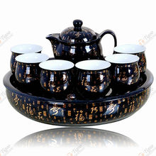 Fu-B-4 pottery tea set with CE certificate indian god gift