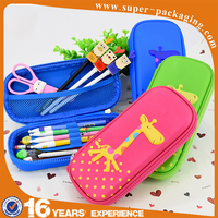 Custom EVA wholesale cute promotional zipper pencil case for school