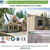 china best factory for high quality flat top roof pre designed Tailored prefab light steel structure villa