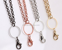 fashion necklace jewelry gold hollow necklace in 60cm length silver/gun/rose gold/gold