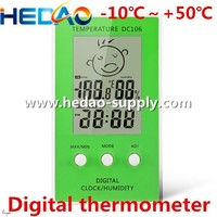 DC106 LCD display Green Clock With calendar Industrial Digital thermometer