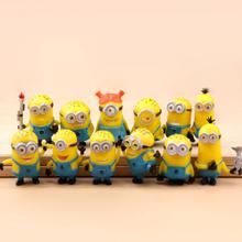 12pcs Movie Despicable Me Minions Action Figure Play Set, High Quality Custom Cute Minions Figure Supplier, PVC Action Figure