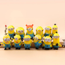 12pcs Movie Despicable Me Minions Action Figure Play Set, High Quality Custom Cute Minions Figure Supplier, PVC Action Figure