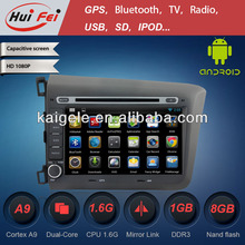 HuiFei Android 4.2.2 Navigation System for Car Honda Civic 2012 with Mirror Link Capacitive Touch Screen Multipoint support OBD2