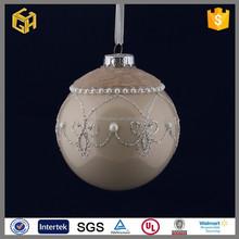 Hot sell christmas ornaments grey cheap ball,christmas glass ball