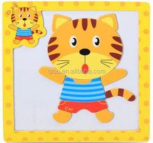 2015 más vendido / aprendizaje inglés / Animal rompecabezas / juguetes de madera