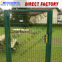 low price high quality house gate design and steel fence from Anping factory
