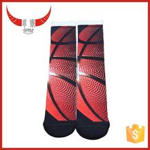Sublimation Printing Socks,Very Vivid Pattern Basketball Socks
