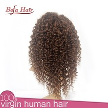 Natural unprocessed remy virgin human hair wig kinky yaki lace front wigs kinky curl wigs for american african women