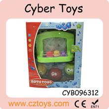 2015 popolare 4 pezzi bagno mini basket soft giocattoli e basket bordo per bambini giocattoli per il bagno