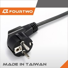 made in taiwan FOB price europe approval power extension cord with european standard ac power cord h05vv-f 3g1.5mm power cords