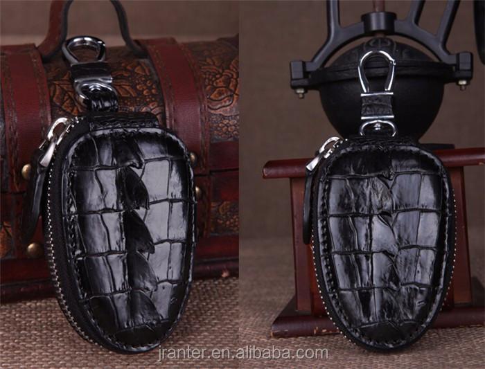 Top Luxury Crocodile Leather Case Car Key  Holder Wallet,High-end Leather bmw key case_6