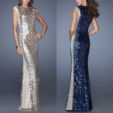 New Arrival 2014 Floor Length O-Neck Mother of the Bride Dresses Sexy Prom Dresses Sequins Sheath Long Evening Dresses 2014