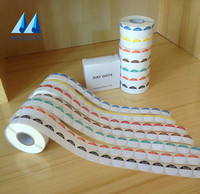 High-grade die cut printing adhesive label sticker in rolls