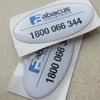 Customized epoxy sticker