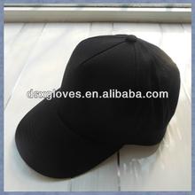 Cotton Sports Caps Plain Black 5 Panel Cap