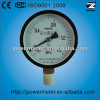 100mm/botom type/bourdon tube/black steel pressure gauge manometer
