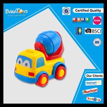 Nuevo producto f/p de dibujos animados de camiones de construcción de juguete