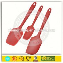 Customized design silicone spatula private label & stainless steel spatula