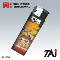 TAJ brand name electronic lighters with African culture