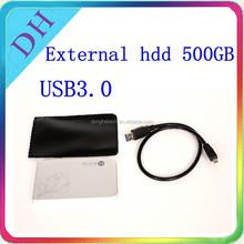 HARD DISK --- external hard drive 500gb customize logo USB3.0 for Laptop