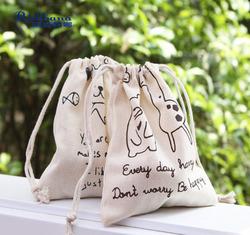 factory price cotton canvas drawstring bag with red drawstrings, wholesale cotton fabric drawstring bag, cotton bag drawstring