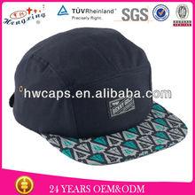 Benny Gold Ikat Arrowhead Navy 5 Panel Hat Customize Cheap 5 Panel Cap