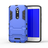 Premium Dual Layer Hybrid Side Kickstand Cover Case with Holster Clip for Motorola X play