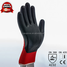 Red Color 13G Nitrile Coated Work gloves Cotton Knitted Gloves