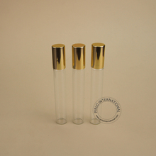 8ml roll on perfume bottle glass with stainless steel ball and gold cap