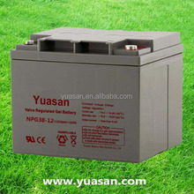 Mini UPS 12V 38AH Valve Regulated Lead Acid Gel Sealed Battery -NPG38-12