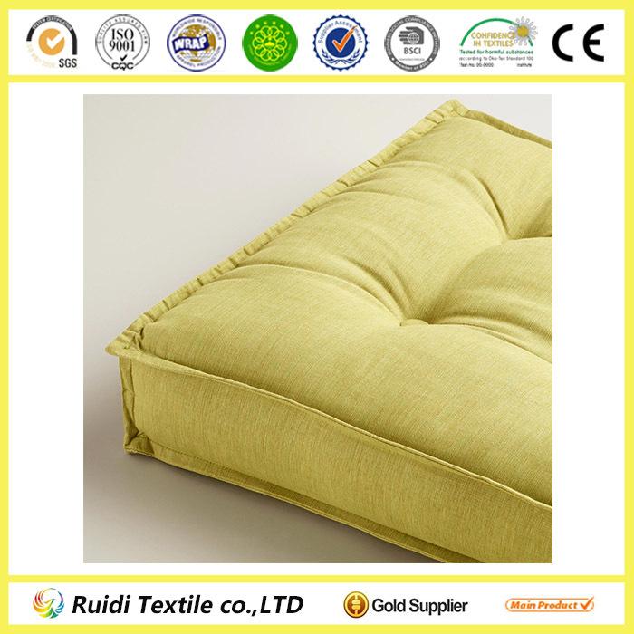 cojn del asiento cojn para silla verde khadi mechones piso cojines para sentarse