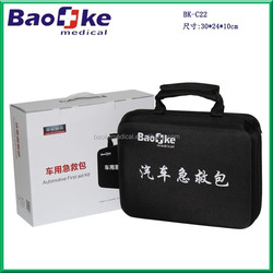 Custom roadside emergency kit with private labeling service, car first aid kit full box