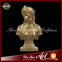 Famous Antique Bronze Lady Bust Of Sculpture