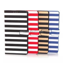 Leather Colorful Stripe Wallet Book Case Pouch for samsung galaxy Note 4 N910 /with stand card slot