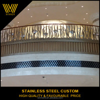 Fashion popular stainless steel wrought iron handrails outdoor stairs