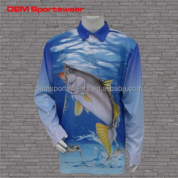 Sublimated clothing tournament custom fishing shirt jersey for Custom fishing shirts
