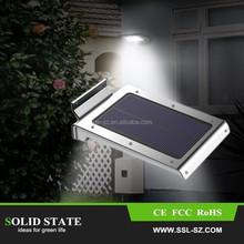 Hot sale stainless steel led solar garden light outdoor light motion sensor lamp