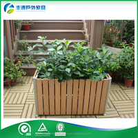Outdoor Wood Plant Containers Pot Giant Outdoor Flower Pots