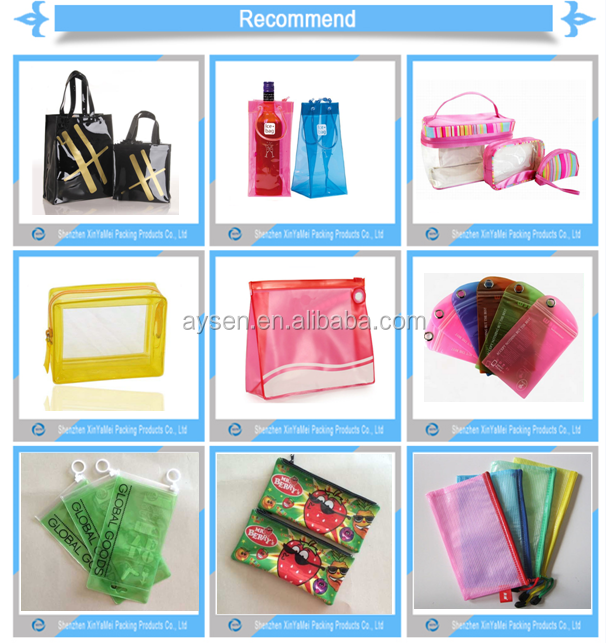 PVC Material and Bag Shape zipper file bag